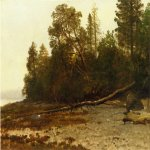 Albert Bierstadt (1830-1902)  The Fallen Tree  Oil on canvas  14 1/4 x 18 inches (36.20 x 45.72 cm)  Public collection